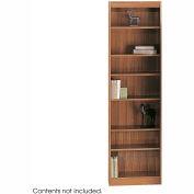 """7-Shelf Veneer Baby Bookcase, 24""""W, Medium Oak"""