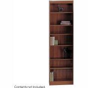 """7-Shelf Veneer Baby Bookcase, 24""""W, Walnut"""