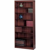 "7-Shelf Veneer Baby Bookcase, 30""W, Mahogany"