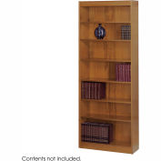 "7-Shelf Veneer Baby Bookcase, 30""W, Medium Oak"