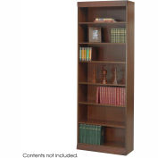 "7-Shelf Veneer Baby Bookcase, 30""W, Walnut"