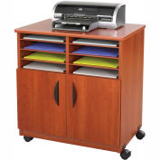 Safco® Mobile Machine Stand with Sorter, Cherry