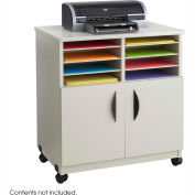 Safco® Products 1851GR Mobile Machine Stand with Sorter - Gray
