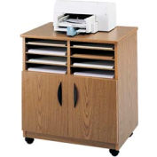 Mobile Machine Stand with Sorter - Medium Oak