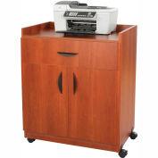Safco® Deluxe Mobile Machine Stand, Cherry