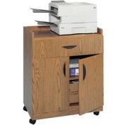 Deluxe Mobile Machine Stand - Medium Oak