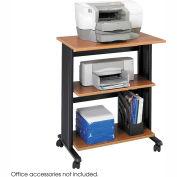 Muv™ Three Level Adjustable Printer Stand - Medium Oak