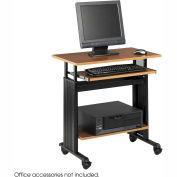 """Muv™ 28"""" Adjustable Height Workstation - Medium Oak"""