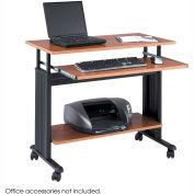 """Muv™ 35"""" Adjustable Height Workstation - Medium Oak"""