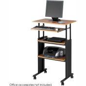 Muv™ Stand-up Adjustable Height Workstation - Medium Oak