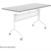 Mobile Training Rectangle Table Top only (Base Sold Separately) 72 x 24 Gray