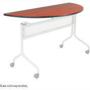 Mobile Training Half Round Table Top only (Base Sold Separately) 48 x 24 Cherry