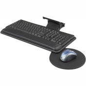 Adjustable Keyboard Platform With Swivel Mouse Tray - Black