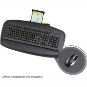 Safco® 2143BL Premier Series Keyboard Platform with Mouse Platform, Black