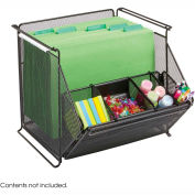 Safco® Onyx™ Stackable Mesh Storage Bins