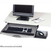 Safco® 2213 Ergo-Comfort Premium Underdesk Keyboard Drawer, Charcoal