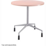 "RSVP™ Fixed Base 28"" Dia. With 4 Levelers Silver (Top Sold Separately)"