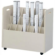Mobile Roll File - 21 Compartment