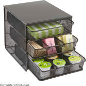 Safco 3275BL - Onyx Hospitality / Break Room Organizer, 3 Drawers