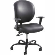Safco® Alday™ 24/7 Task Chair, Black Vinyl
