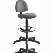 Precision Extended-Height Chair with Footring, Dark Gray