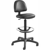 Safco Precision Drafting Stool - Vinyl - Extended Height - Black
