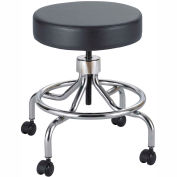"Safco® Lab Stool - Vinyl - Screw Lift - 25""H - Black"