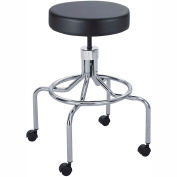 Safco® Lab Stool, High Base with Screw Lift