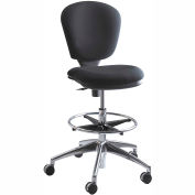 Metropolitan Extended Height Chair - Black Fabric Upholstered