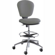 Safco® Metropolitan Extended Height Drafting Stool Chair - Fabric - Gray