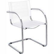 Flaunt™ Guest Chair Leather - White