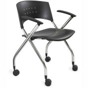 Safco® Mobile Nesting Chair (Qty. 2) - Black Plastic