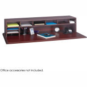 "58""W Low Profile Desk Top Organizer - Mahogany"
