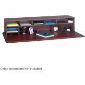 "58""W Low Profile Desk Top Organizer - Mahogany"