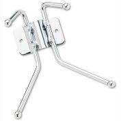 Safco® Wall Coat Rack, 2 Ball-Tipped Double-Hooks, Chrome