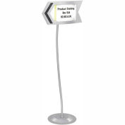 Safco® Customizable Arrow Sign - Gray