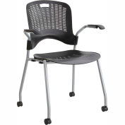 Safco Sassy Flexible Plastic Stacking Chair Black Pack of 2 by Stacking Chairs