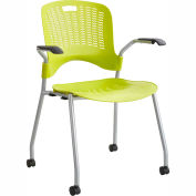 Safco Sassy Flexible Plastic Stacking Chair Grass Pack of 2 by Stacking Chairs