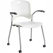 Safco® Sassy® Stack Chair, Pearl, 2/PK - Pkg Qty 2