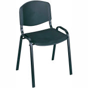Safco® Plastic Stacking Chair - Black - Pack of 4