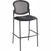 Safco® Diaz Mesh Bistro Chair - Fabric - Black