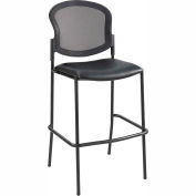 Safco® Diaz Bistro Height Mesh Back - Black Vinyl