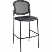 Safco® Diaz Mesh Bistro Chair - Vinyl - Black
