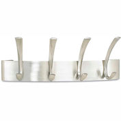 Safco® Wall Coat Rack, 4-Hooks, Steel