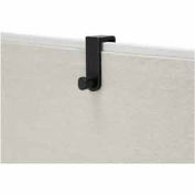 Over the Panel Single Hook (Qty 6) - Black