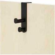 Over the Door Double Hook (Qty 6) - Black
