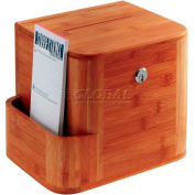 Safco® Bamboo Suggestion Box, Cherry