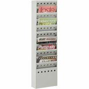 11 Pocket Steel Magazine Rack - Gray