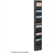 23 Pocket Steel Magazine Rack - Black