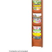 12 Pocket Wood Magazine Rack - Cherry